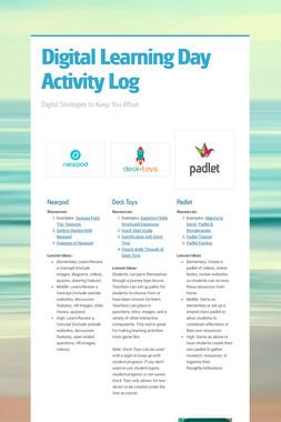 Digital Learning Day Activity Log