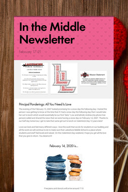 In the Middle Newsletter