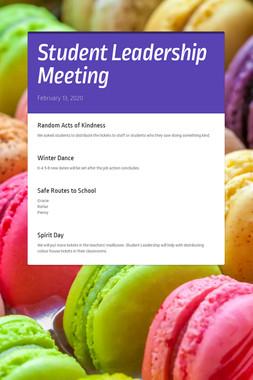 Student Leadership Meeting