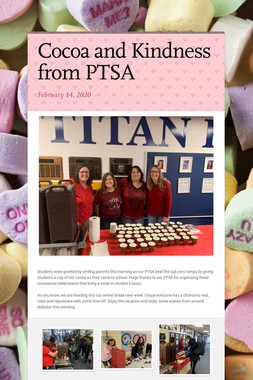 Cocoa and Kindness from PTSA