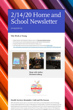 2/14/20 Home and School Newsletter