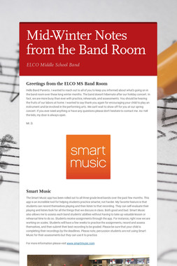 Mid-Winter Notes from the Band Room