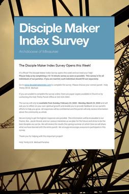 Disciple Maker Index Survey
