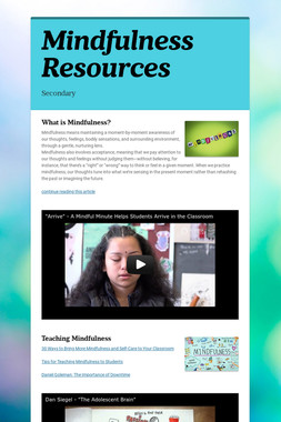 Mindfulness Resources