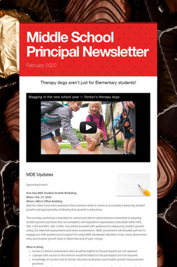 Middle School Principal Newsletter