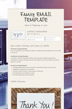 Family EMAIL TEMPLATE
