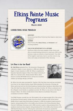 Elkins Pointe Music Programs