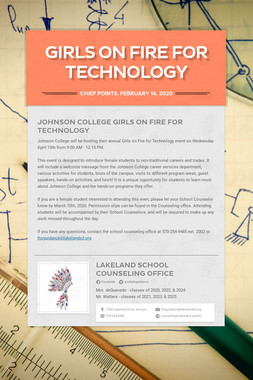Girls on Fire for Technology