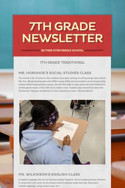 7th Grade Newsletter