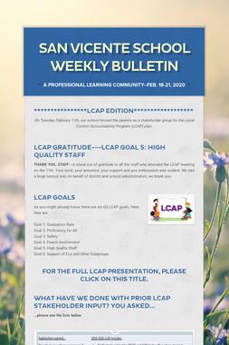 San Vicente School Weekly Bulletin