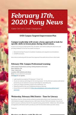 February 17th, 2020 Pony News