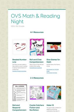 OVS Math & Reading Night