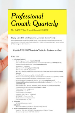 Professional Growth Quarterly