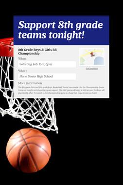 Support 8th grade teams tonight!