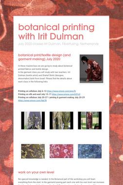 botanical printing with Irit Dulman