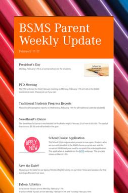 BSMS Parent Weekly Update