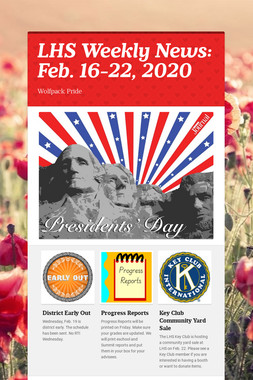 LHS Weekly News: Feb. 16-22, 2020