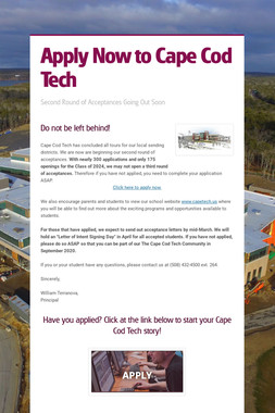 Apply Now to Cape Cod Tech