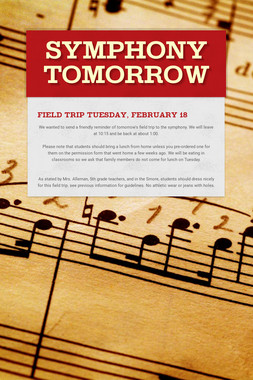 Symphony Tomorrow