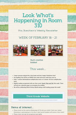 Look What's Happening in Room 310