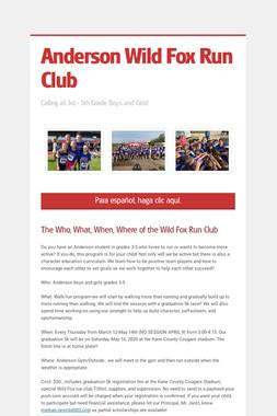 Anderson Wild Fox Run Club
