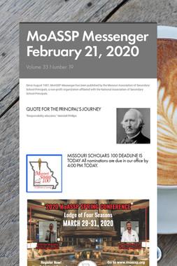 MoASSP Messenger February 21, 2020