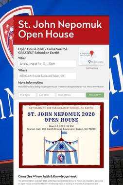 St. John Nepomuk Open House