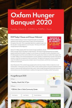 Oxfam Hunger Banquet 2020