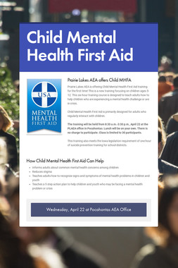 Child Mental Health First Aid
