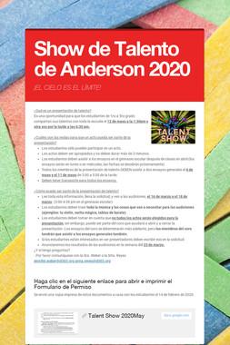 Show de Talento de Anderson 2020