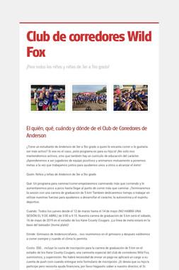 Club de corredores Wild Fox