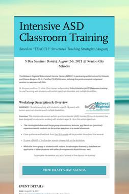 Intensive ASD Classroom Training