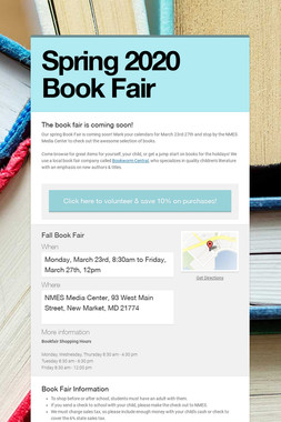 Spring 2020 Book Fair