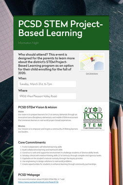 PCSD STEM Project-Based Learning
