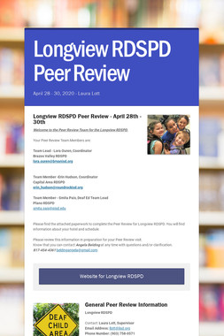 Longview RDSPD Peer Review