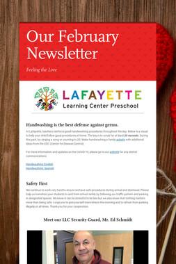Our February Newsletter