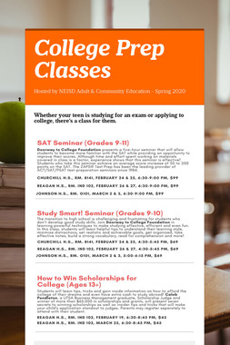 College Prep Classes