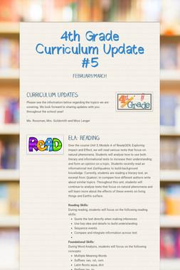 4th Grade Curriculum Update #5