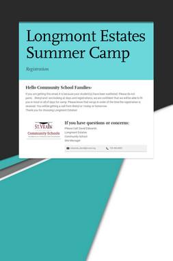 Longmont Estates Summer Camp