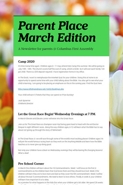 Parent Place March Edition