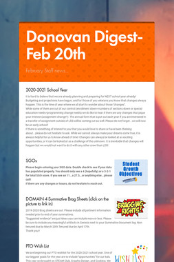 Donovan Digest-Feb 20th