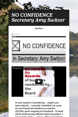 NO CONFIDENCE Secretary Amy Switzer