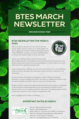 BTES March Newsletter
