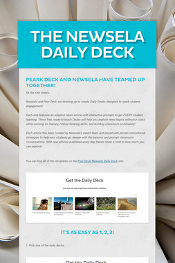 The Newsela Daily Deck