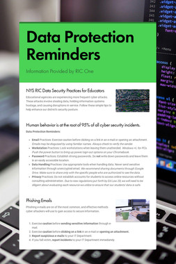 Data Protection Reminders