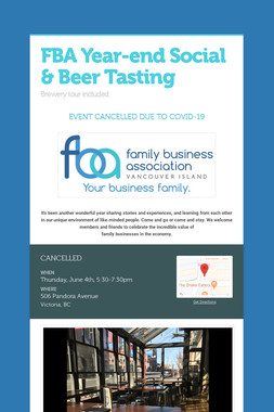 FBA Year-end Social & Beer Tasting