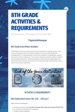 8TH GRADE ACTIVITIES & REQUIREMENTS