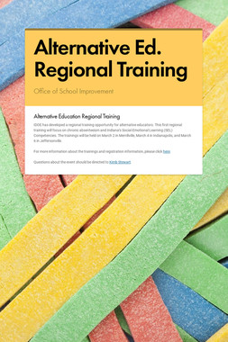 Alternative Ed. Regional Training