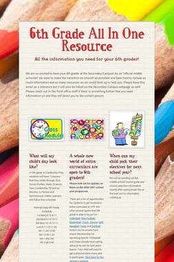 6th Grade All In One Resource