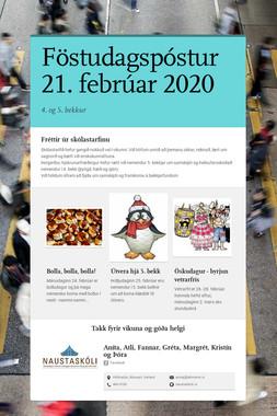 Föstudagspóstur 21. febrúar 2020